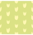 Seamless floral yellow and green tulips background vector image vector image