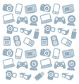 Seamless web icons pattern vector image vector image