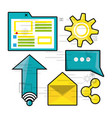 set icon related with internet vector image vector image