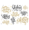 set of hand lettering valentines day vector image vector image