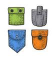 set pockets sketch vector image