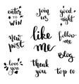 social network follow me banner designs set vector image