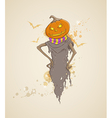 spooky pumpkin vector image