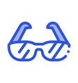 sport spectacles alpinism equipment icon vector image