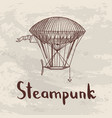 steampunk hand drawn airships vector image vector image