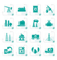 stylized petrol and oil industry icons vector image vector image