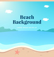 summer beach scenery background design with text vector image