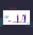 teamwork connection partnership cooperation vector image