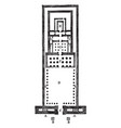 temple of edfu vintage engraving vector image vector image