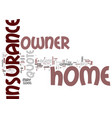 The best home owner insurance quote text vector image