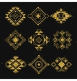 Tribal geometric elements collection vector image