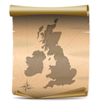 United Kingdom Vintage Map vector image vector image