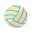volleyball flat icon vector image vector image