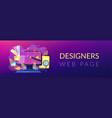 web design development header or footer banner vector image vector image