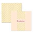 Wedding stationery design set vector image vector image