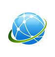 worldwide broadband satellite swoosh symbol logo vector image vector image