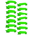 set of green cartoon vector image