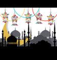 ramadan kareem greeting card stylized drawing of vector image