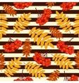 Autumn seamless pattern with rowan vector image