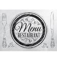 Menu Restaurant coal vector image
