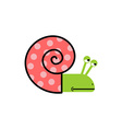 Sad Snail Gastropods with spiral shell car vector image