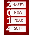 2014 Happy new year background vector image