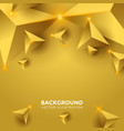 abstract shiny gold triangle background 3d vector image