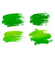 abstract watercolor green brush strokes isolated vector image