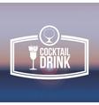 beverage menu design vector image vector image