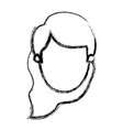 blurred silhouette caricature front view faceless vector image vector image
