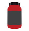 bottle of nutritional supplements vector image