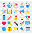 business icons set on transparent vector image