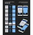 Calendar and Weather Mobile App Widgets UI Designs vector image vector image