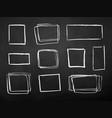 chalk drawn set of grunge contour frames vector image