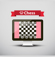 chess - strategy game on computer screen design vector image vector image
