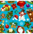 Christmas seamless pattern for xmas design vector image