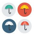 circle flat icon collection umbrella vector image vector image