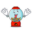 crazy gumball machine mascot cartoon vector image vector image