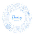 dairy products banner template natural healthy vector image vector image