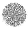 Decorative lace ethnic element vector image