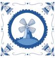 delft blue mill vector image vector image