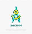 development symbol thin line icon vector image