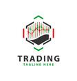digital stock trading logo vector image