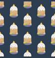 easter cake seamless pattern vector image vector image
