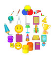 excellent worker icons set cartoon style vector image vector image