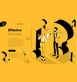 exclamation mark flat design isometric vector image