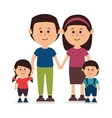 Family colorful cartoon vector image