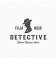 Film Noir Detective Abstract Vintage Emblem