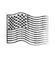 flag united states of america wave monochrome vector image vector image