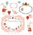 graphic elements for greeting ca vector image vector image